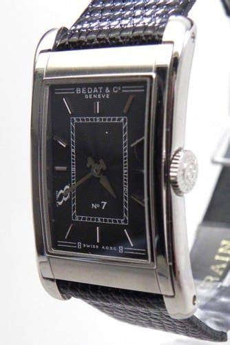 bedat   ss black dial leather band quartz
