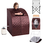 Gymax Portable 2L Steam Sauna Spa Full Body Slimming Loss Weight Detox Therapy W/chair