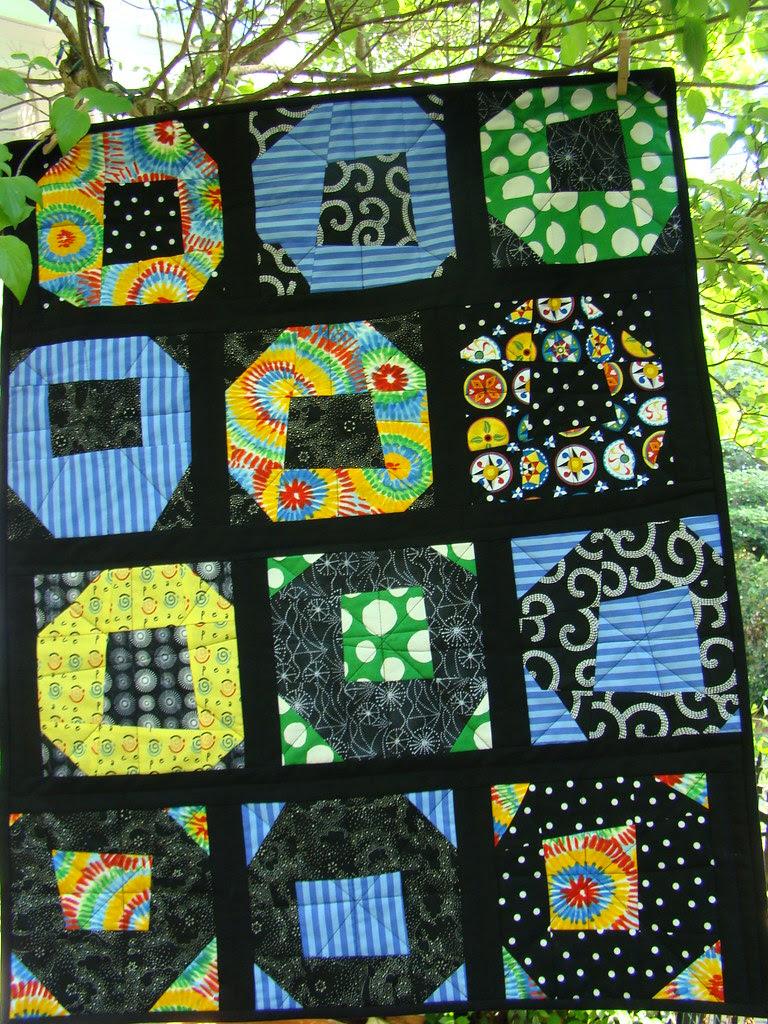Garden Pop Wonky Shoo-Fly Block Flowers