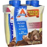 Atkins Protein-Rich Shake, Dark Chocolate Royale - 4 pack, 11 fl oz shakes