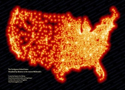 McFarthest in the Lower 48 - Map of McDonald Locations ~ GIS Lounge