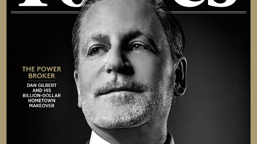 Dan Gilbert on cover of Forbes' richest Americans issue