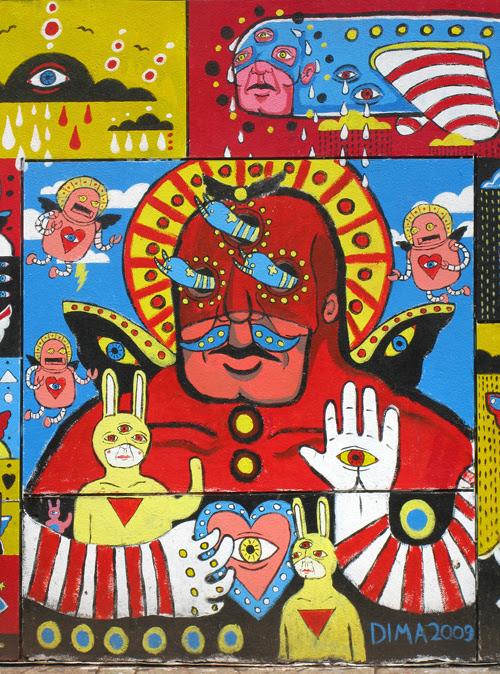 mural on Kenmare Street, Manhattan, NYC