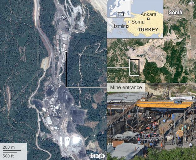 Map: Turkey mine disaster