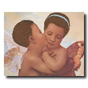 Amazon.com: African American Pluttos Kiss Cherub Angel Home Decor ...