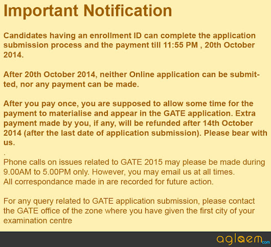 GATE application form can be submitted till October 20 - Admission & Entrance Exams