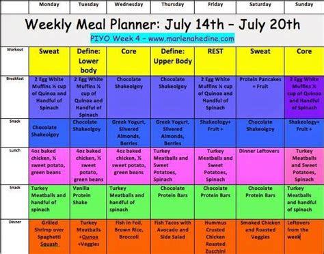week  piyo meal plan  progress update susies