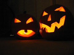 Boo! Mama and Papa's pumpkins