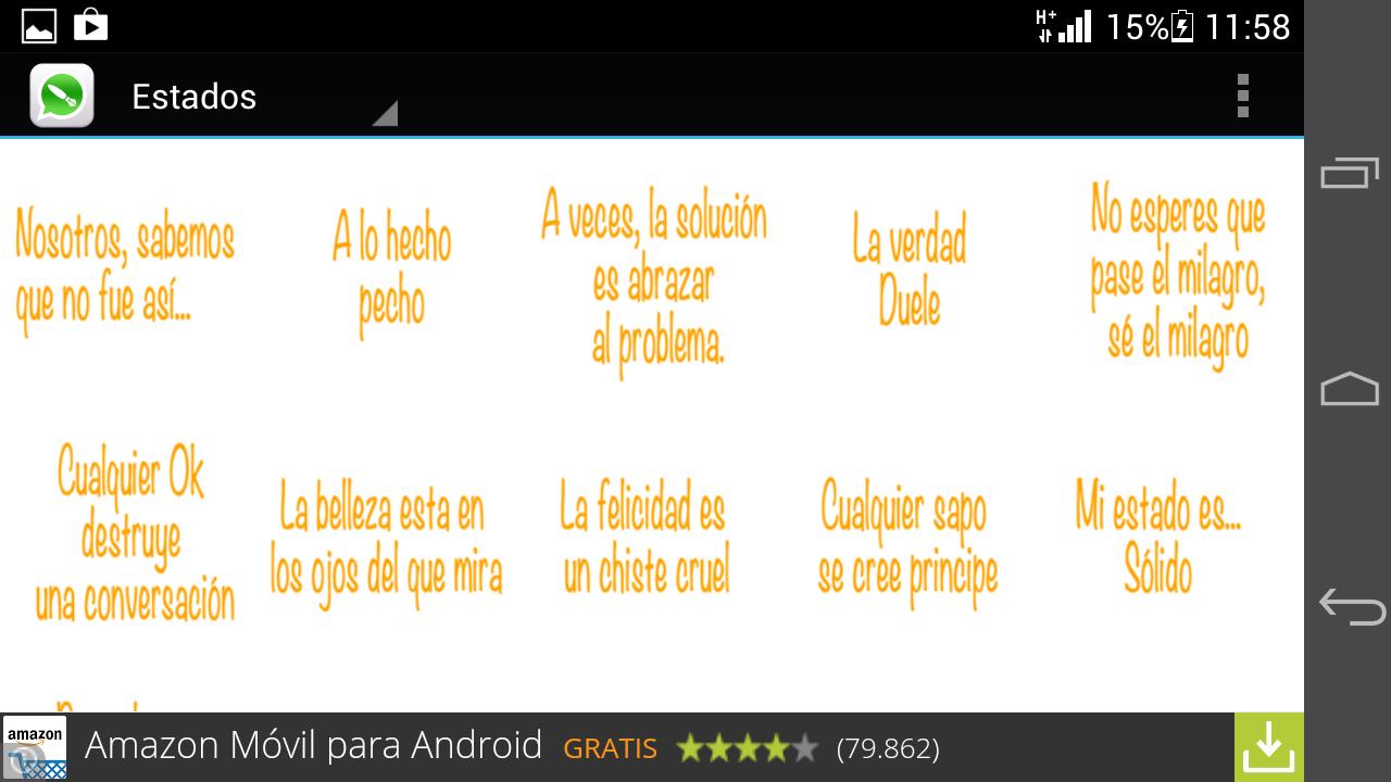 Frases Estado Whatsapp Amor