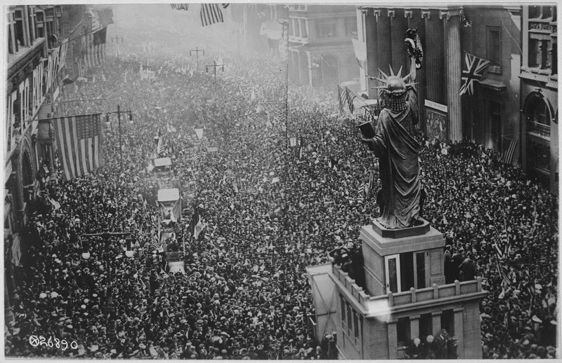 File:The announcing of the armistice on November 11, 1918, was the occasion for a monster celebration in Philadelphia... - NARA - 533478.tif