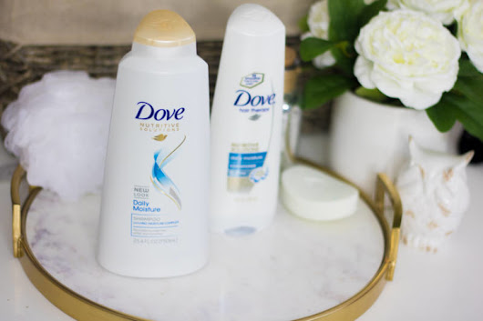 Repair Dry Hair with Dove Nutritive Solutions Daily Moisture Shampoo - www.beingmelody.com
