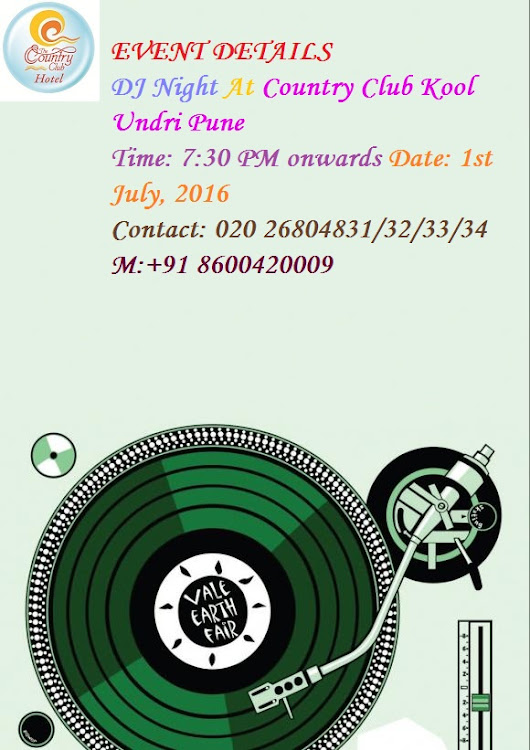 DJ Night At COUNTRY CLUB INDIA – UNDRI PUNE