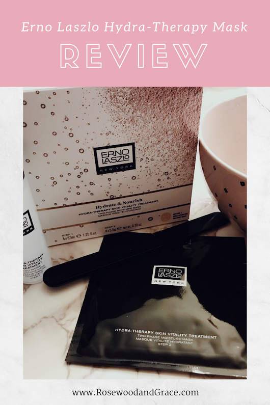 Erno Laszlo Hydra-Therapy Mask Review - Rosewood and Grace