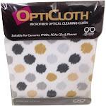 Optimum Optical Circles Design OptiCloth Microfiber Optical Cleaning Cloth