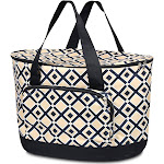 Zodaca Fashionable Large Insulated Cooler Tote Carry Box Food Storage Bag for Camping Beach Travel, Black