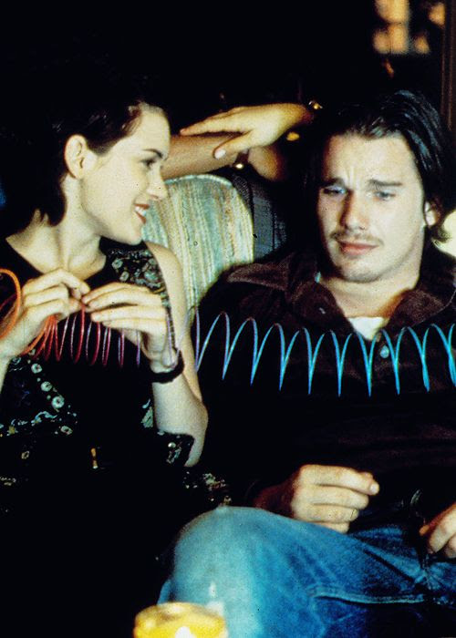 Winona Ryder and Ethan Hawke in Reality Bites, 1994.
