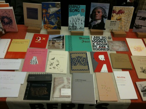 The window display @ CUNY for the Chapbook Festival 2012