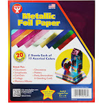 Hygloss Metallic Paper 2 Each 10 Assorted Color