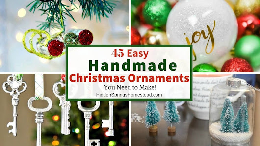 45 Handmade Christmas Ornament Ideas to Try
