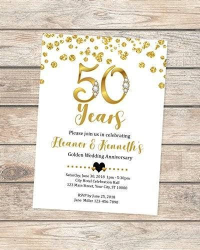 Amazon.com: 50th Wedding Anniversary Invitation, Black And