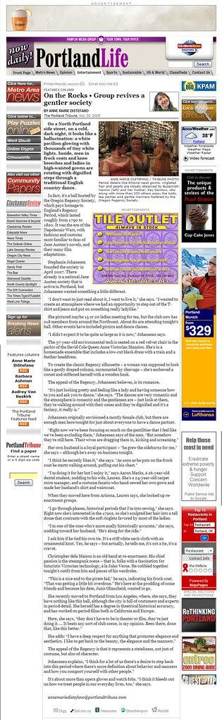 Portland Tribune Article on Ball