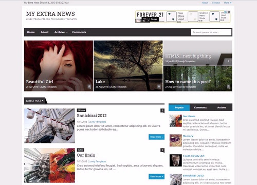 template SEO My extra news templates in brili download