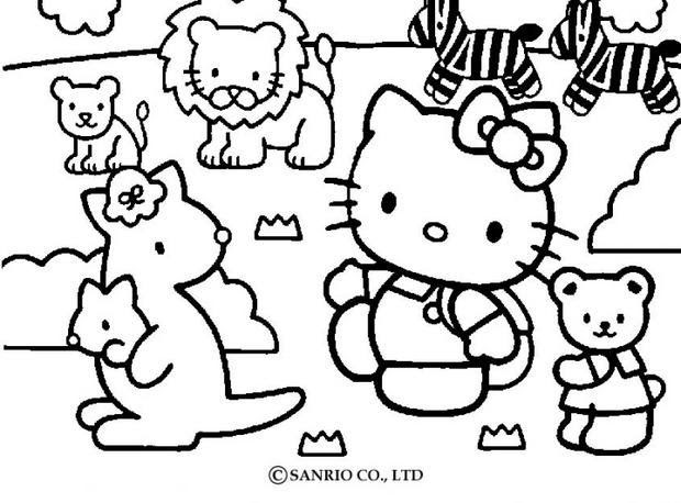 Dibujos Hello Kitty Para Colorear Dibujos Para Colorear Imprime
