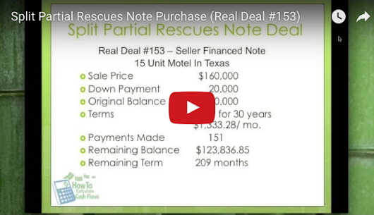 Split Payment Partial Rescues Note Purchase – Real Deal #153