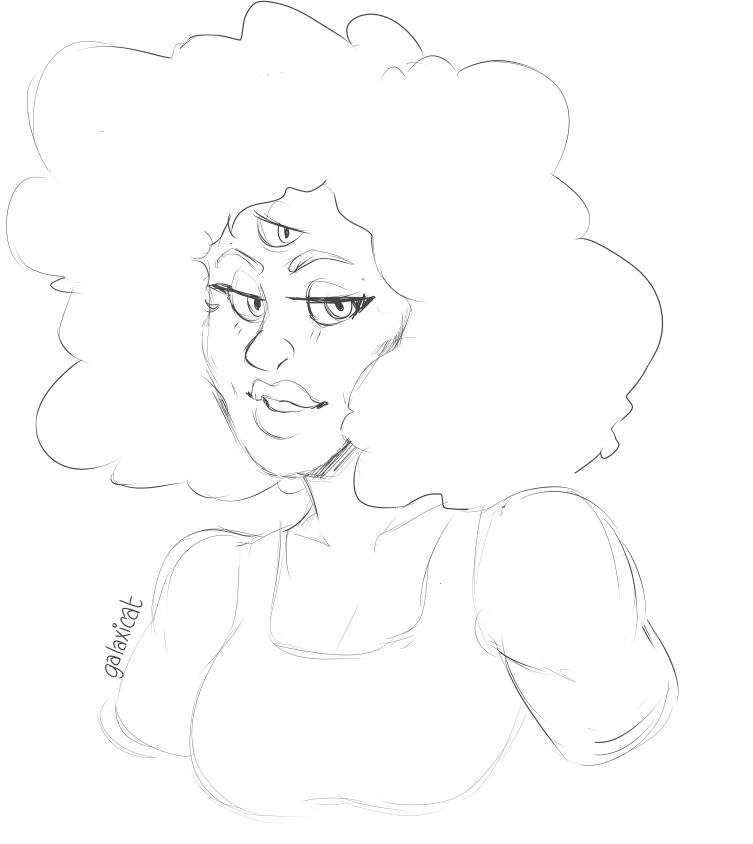 doodled a quick, random garnet