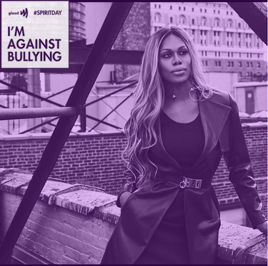 Celebs are showing their support for #SpiritDay on Twitter!