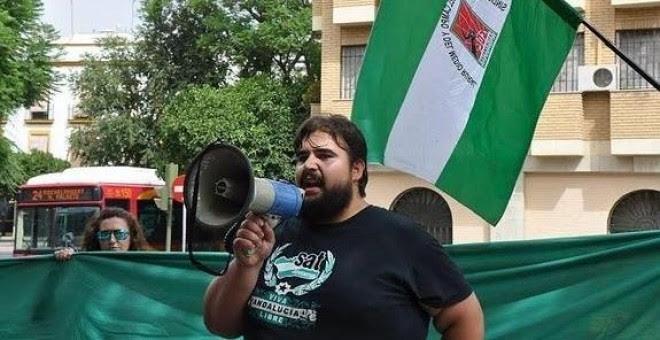 Oscar Reina, portavoz del Sindicato Andaluz de Trabajadores
