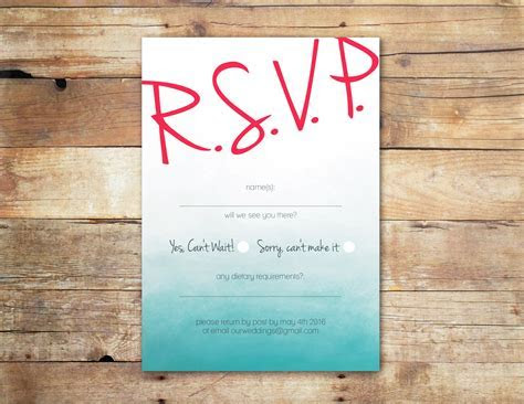 Gorgeous RSVP Cards by Little Ivory Weddings