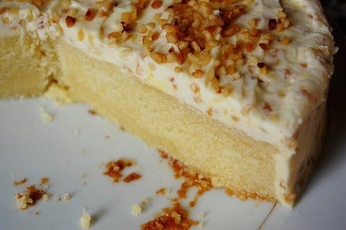hazelnut white chocolate cake