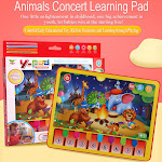 AurouraX Animal Learning Tablet Music Toddler Pad Early Educational Learning Toy for Kids