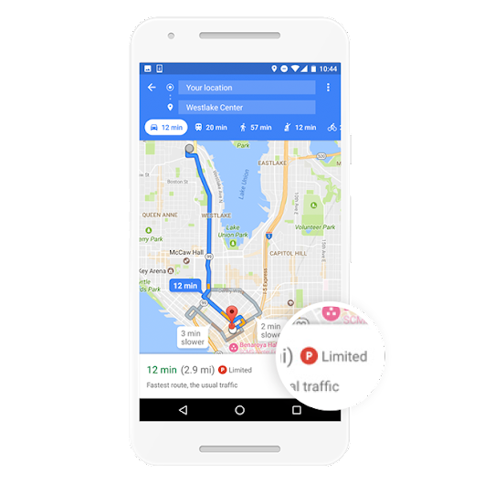 Know before you go: parking difficulty on Google Maps
