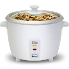 Elite Cuisine ERC-003 Rice Cooker, 6 Cup, White