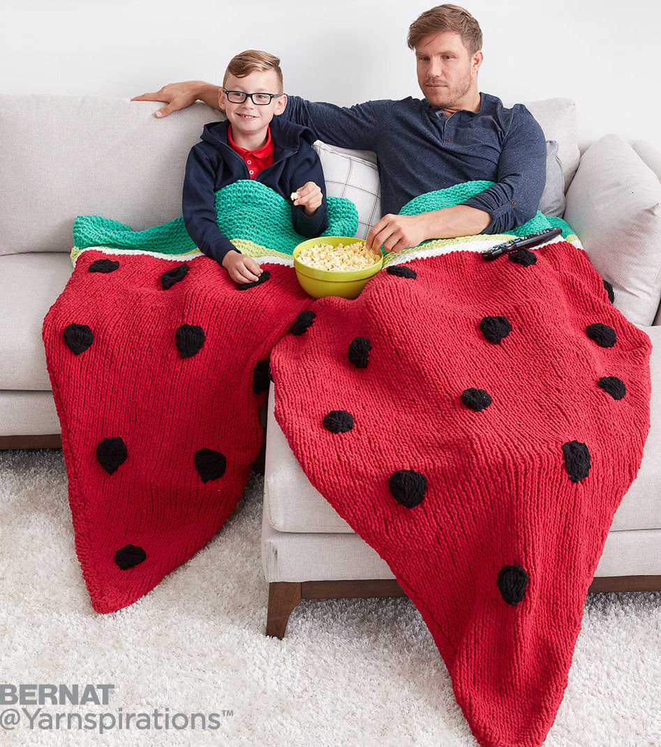 Free Knitting Pattern for Watermelon Wedge Snuggle Sack