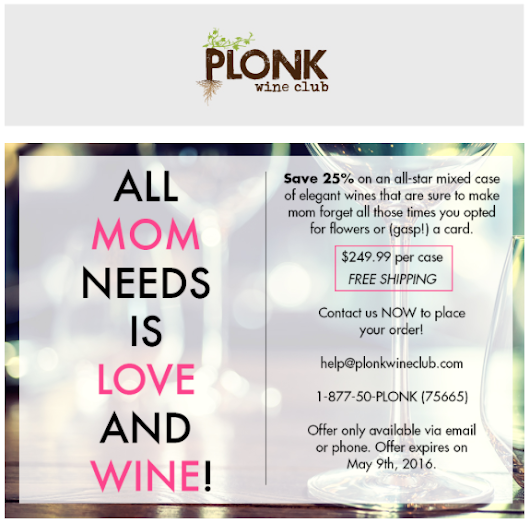 Plonk Wine Club Mothers Day Sale 2016 - Wine Of The Month Club Reviews