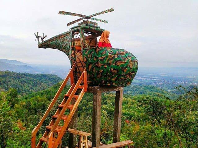 Spot Selfie berbentuk Helikopter di Watu Goyang
