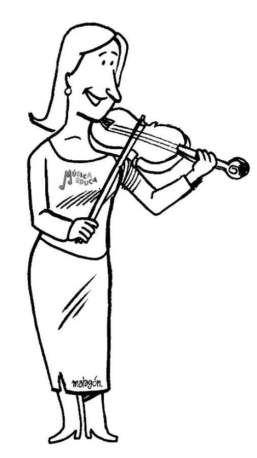 Dibujos Para Colorear Violin Es Hellokids Com