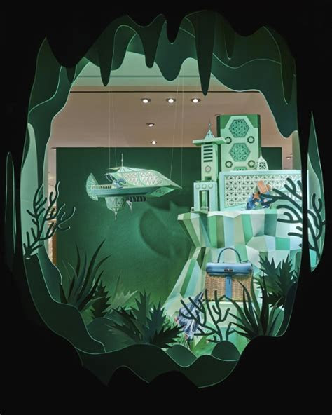 For New Hermès Store, Enchanting ?Atlantis? Window Display