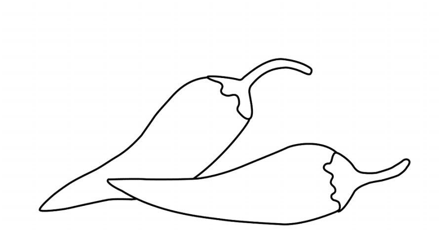 Gambar Gambar Download Sketsa Hitam Putih Mewarnai Cabai Auto