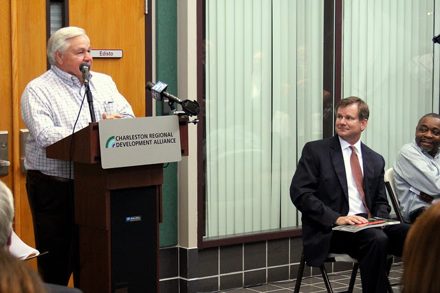 Mayor Summey speaks at Immedion expansion announcement