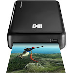 Kodak HD Wireless Portable Mobile Instant Photo Printer (Black), Full Color Prints