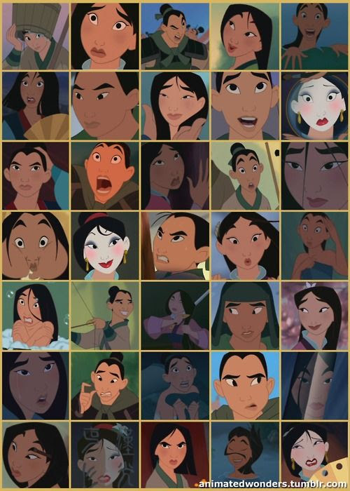 The many faces of Mulan lol