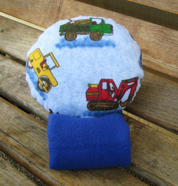 Seatbelt Cover Car Comfort Toddler Child Travel Pillow by SleepyTimez - Work Trucks