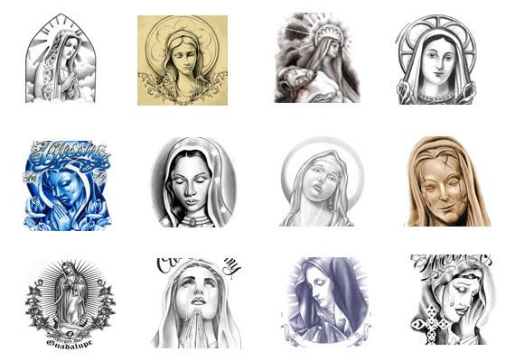 Various Virgin Mary Tattoos Designs Symbols Religious Tattoos