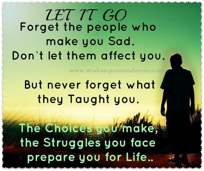 Let It Go Wisdom Quotes Stories