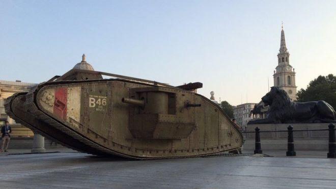 Tank in Trafalgar Square