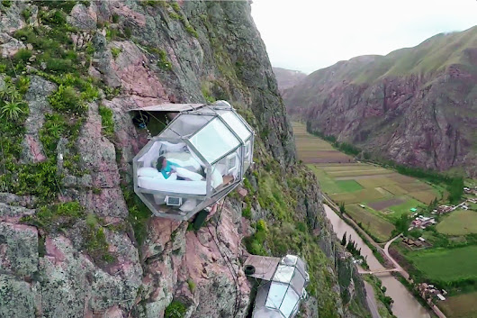 skylodge adventure suites suspended 400 feet above ground